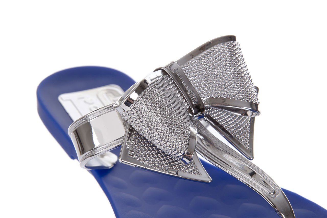Klapki t&g fashion 22-116 dark blue, granat/ srebro, guma - tg - nasze marki 12