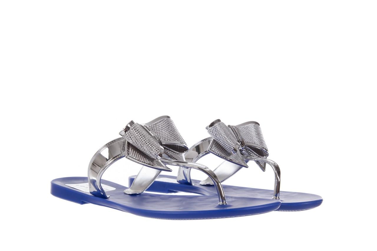Klapki t&g fashion 22-116 dark blue, granat/ srebro, guma - tg - nasze marki 8