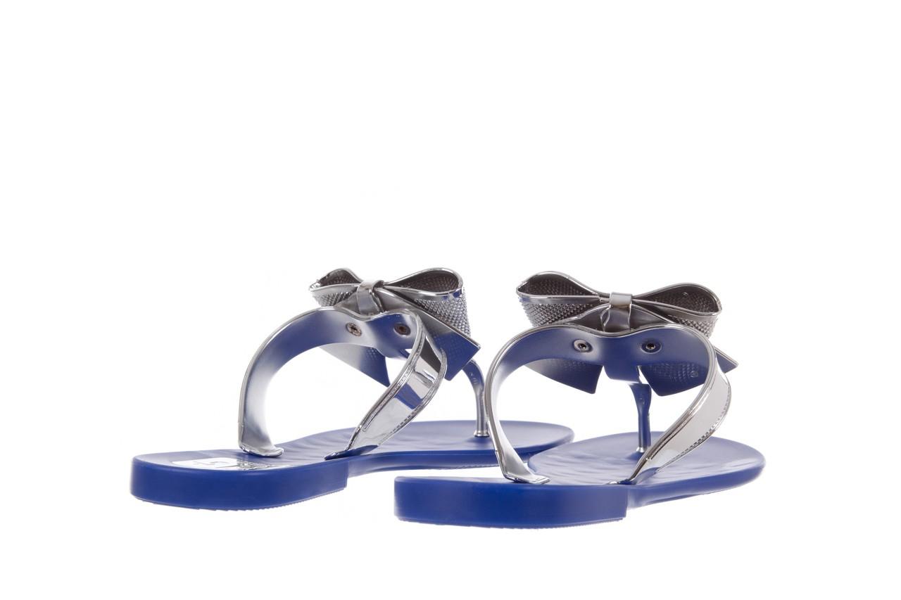 Klapki t&g fashion 22-116 dark blue, granat/ srebro, guma - tg - nasze marki 10