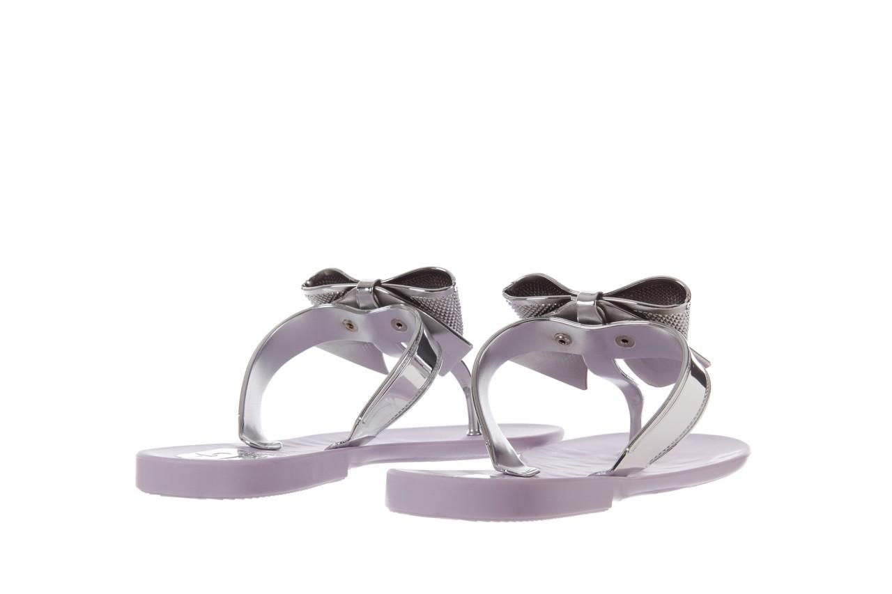 Klapki t&g fashion 22-118 lila, róż/ srebro, guma - klapki - letnie hity cenowe 10