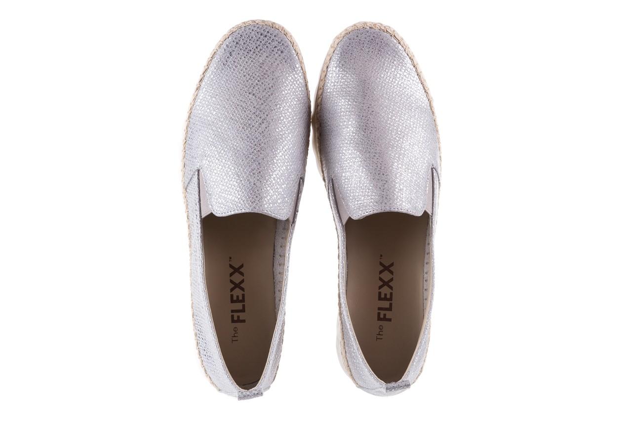 Półbuty the flexx chappie silver, srebrne, skóra naturalna  - mokasyny i lordsy - półbuty - buty damskie - kobieta 11