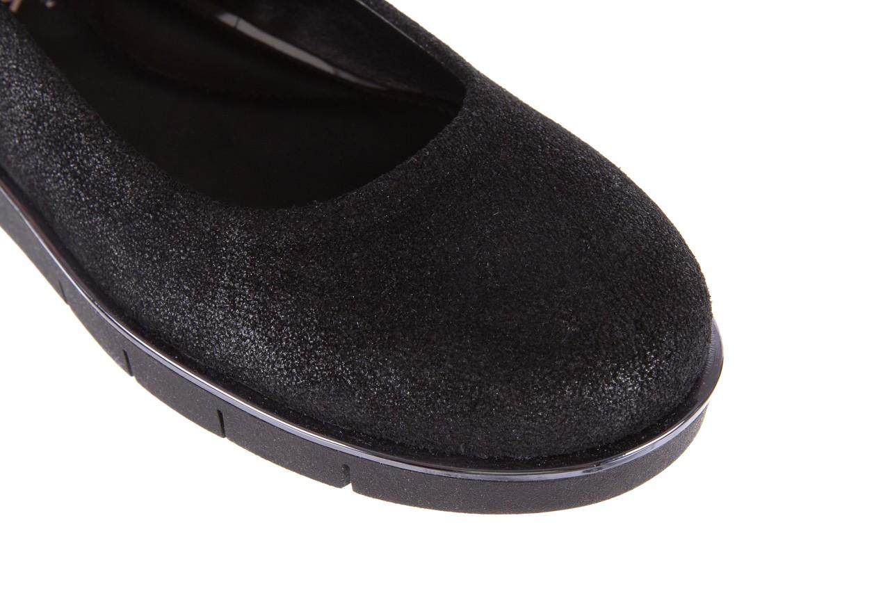 Baleriny the flexx d1039-07 black, czarny, skóra naturalna 12
