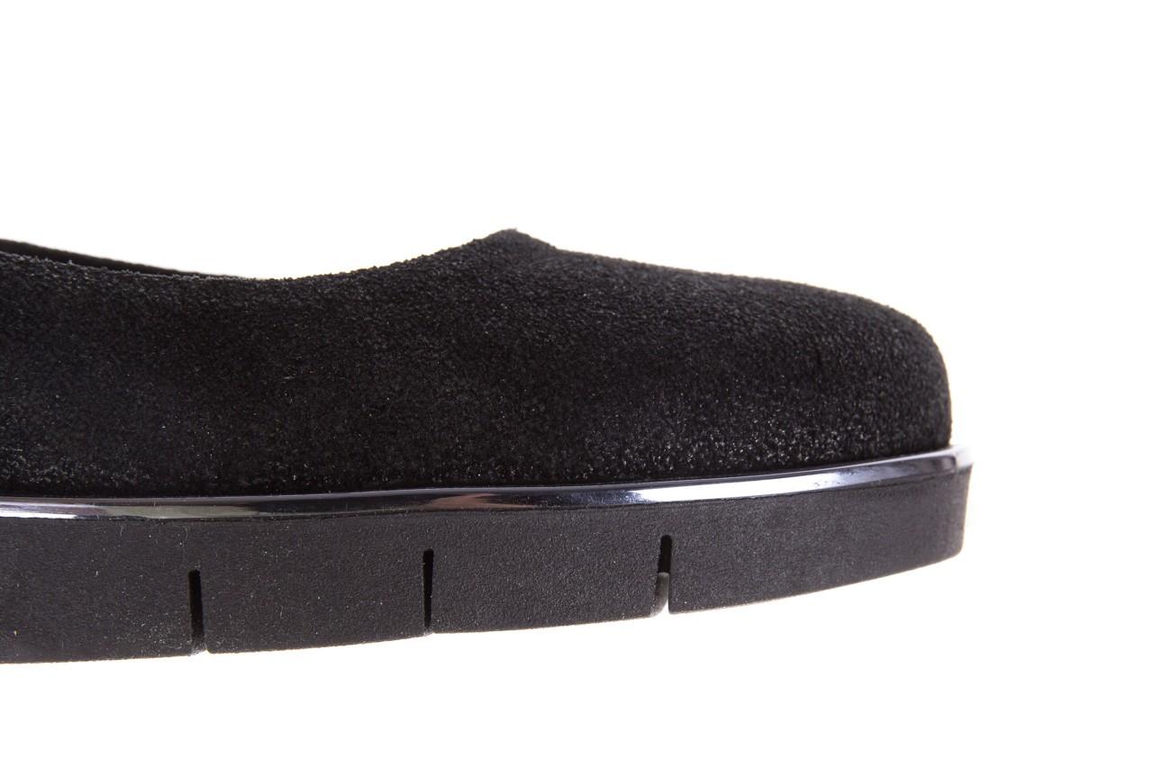 Baleriny the flexx d1039-07 black, czarny, skóra naturalna 13