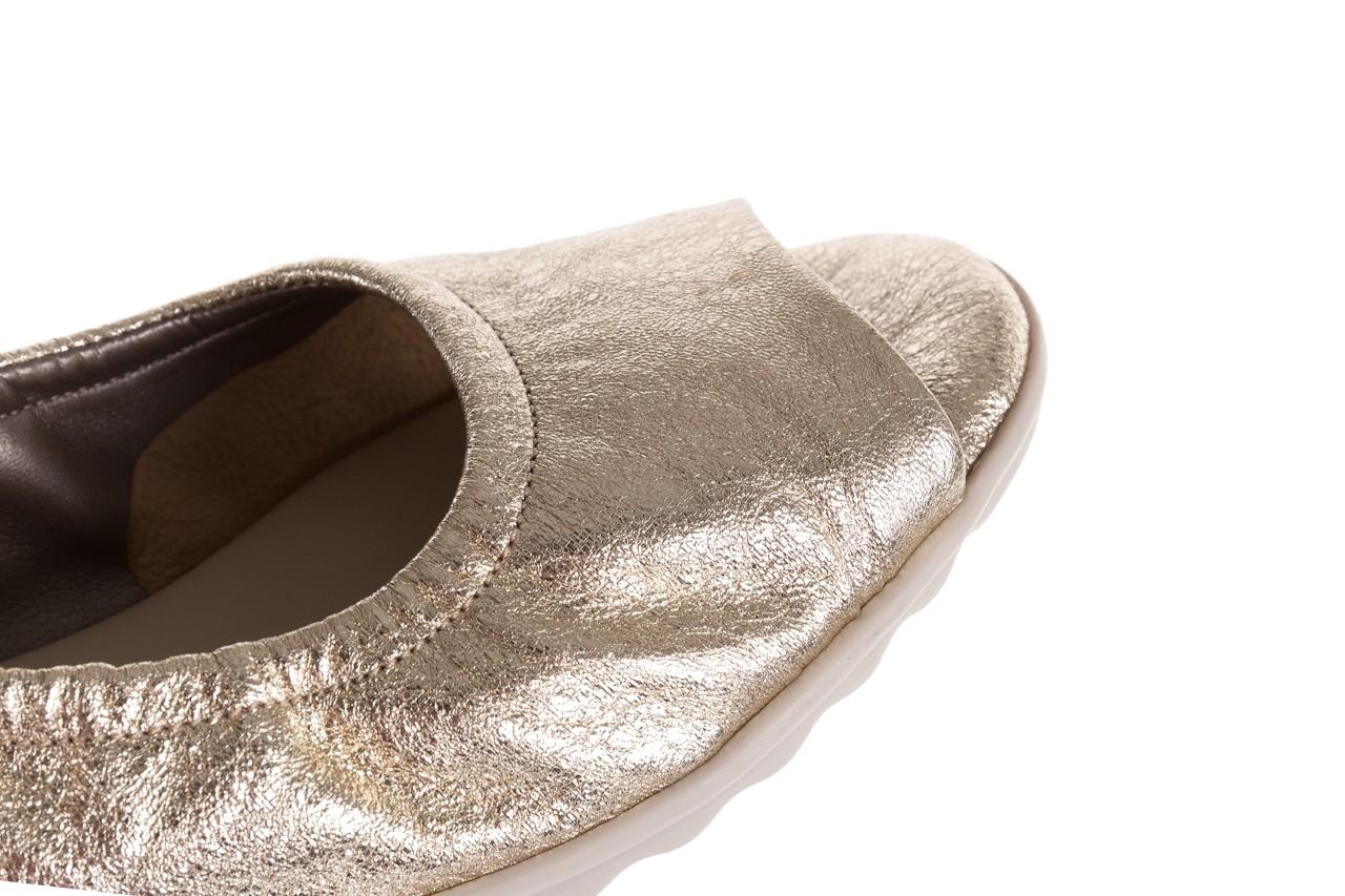 Sandały the flexx fant asm gold, złoty, skóra naturalna  - koturny - dla niej  - sale 15