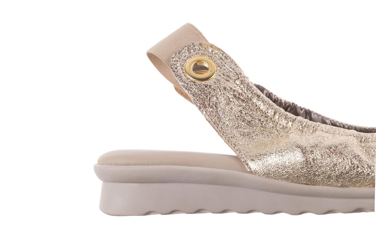 Sandały the flexx fant asm gold, złoty, skóra naturalna  - na koturnie - sandały - buty damskie - kobieta 14