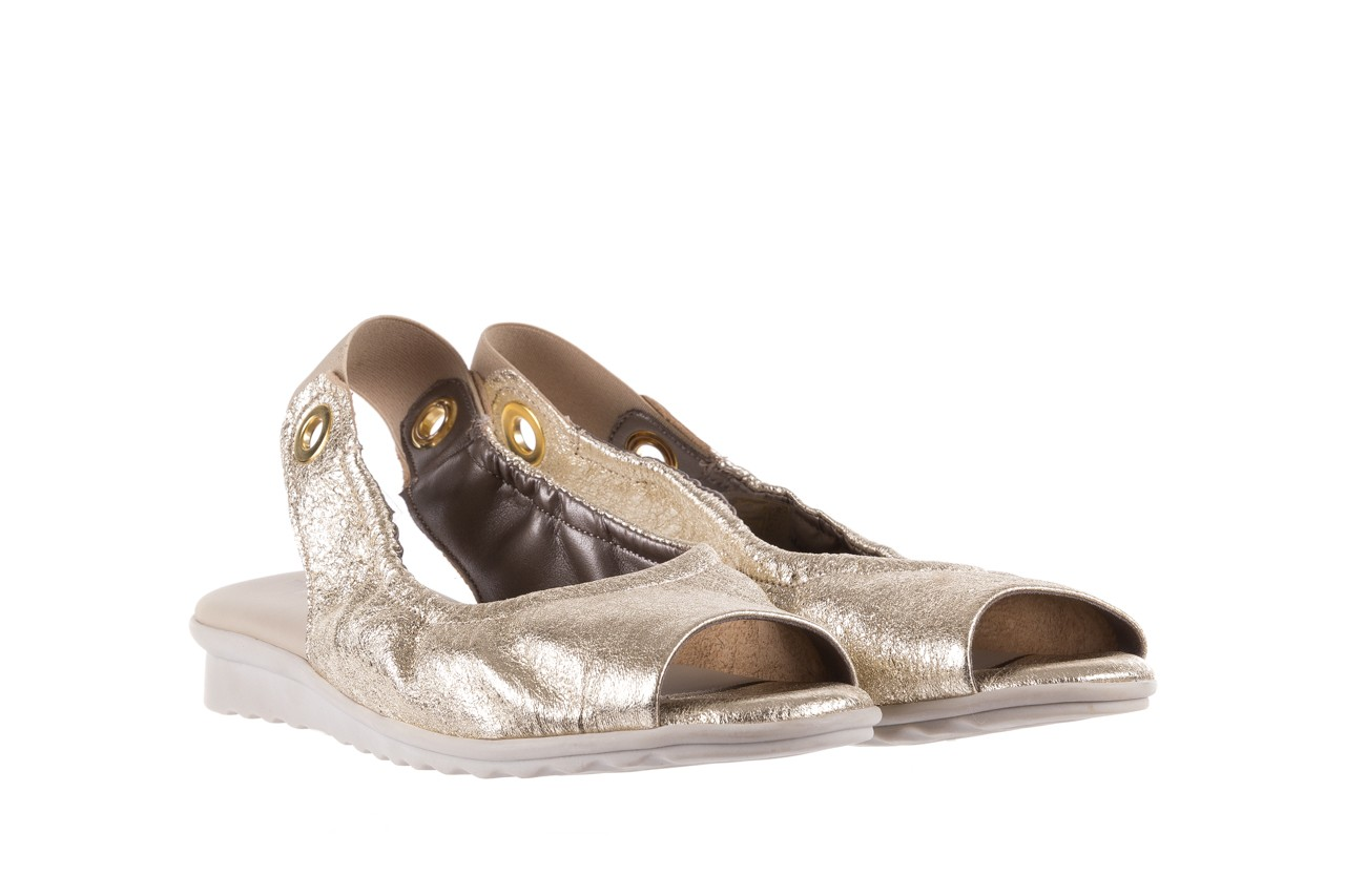 Sandały the flexx fant asm gold, złoty, skóra naturalna  - na koturnie - sandały - buty damskie - kobieta 9