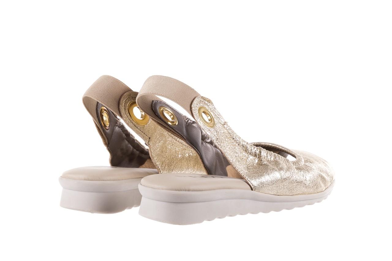 Sandały the flexx fant asm gold, złoty, skóra naturalna  - na koturnie - sandały - buty damskie - kobieta 11