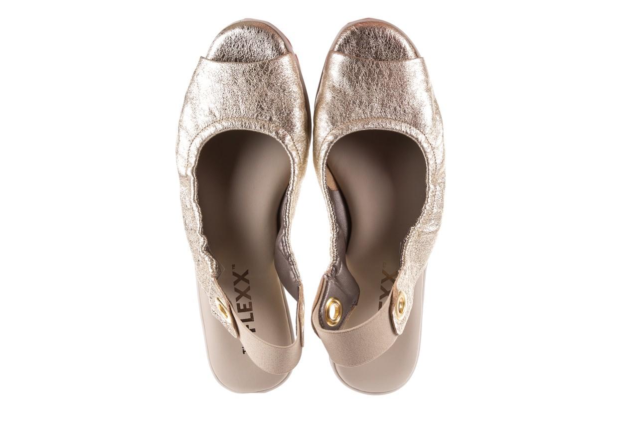 Sandały the flexx fant asm gold, złoty, skóra naturalna  - na koturnie - sandały - buty damskie - kobieta 12