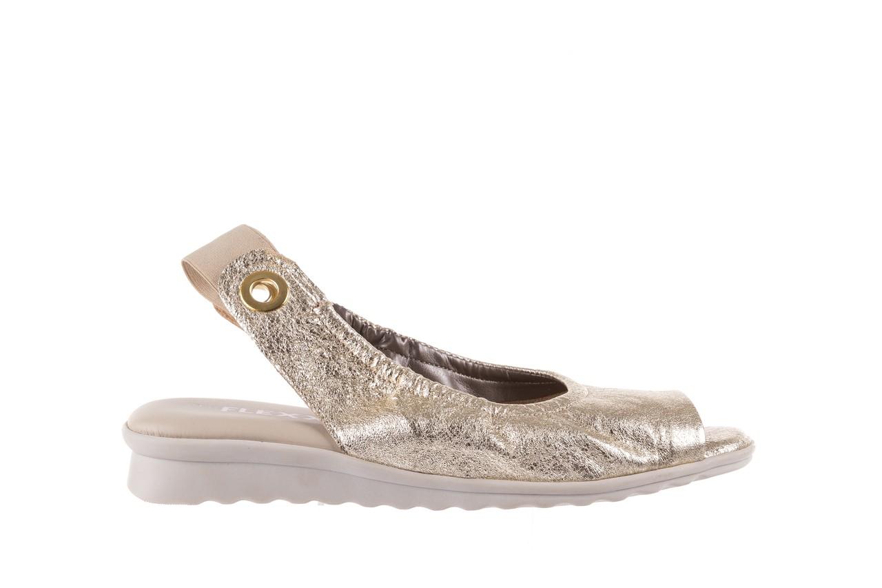 Sandały the flexx fant asm gold, złoty, skóra naturalna  - na koturnie - sandały - buty damskie - kobieta 8