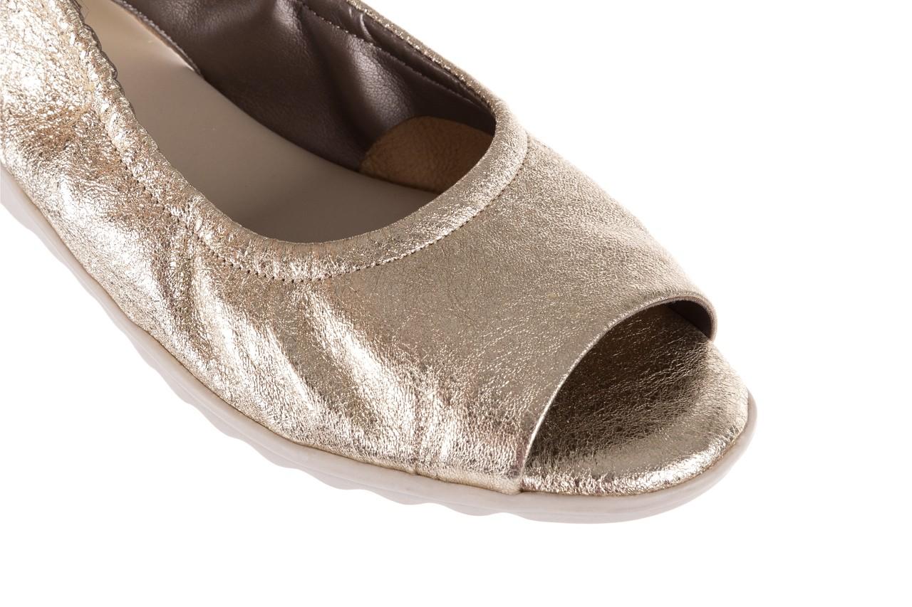 Sandały the flexx fant asm gold, złoty, skóra naturalna  - na koturnie - sandały - buty damskie - kobieta 13