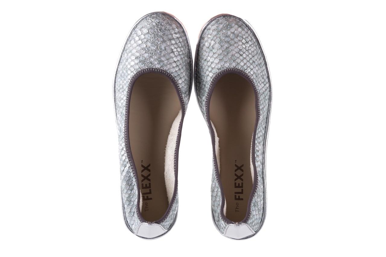 Baleriny the flexx mel a drama silver, biały/srebrny, skóra naturalna  - the flexx - nasze marki 10