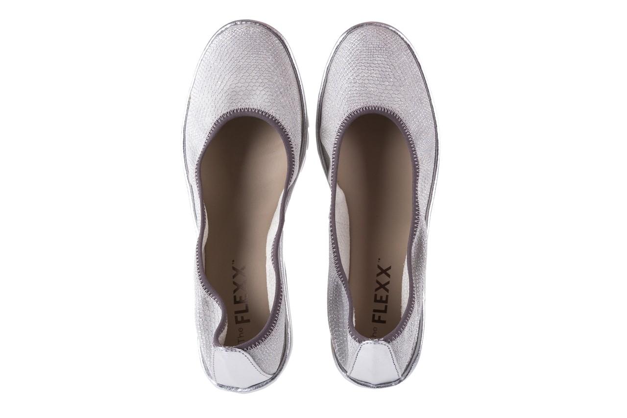 Baleriny the flexx mel a drama white 18, biały, skóra naturalna  - na koturnie/platformie - baleriny - buty damskie - kobieta 10