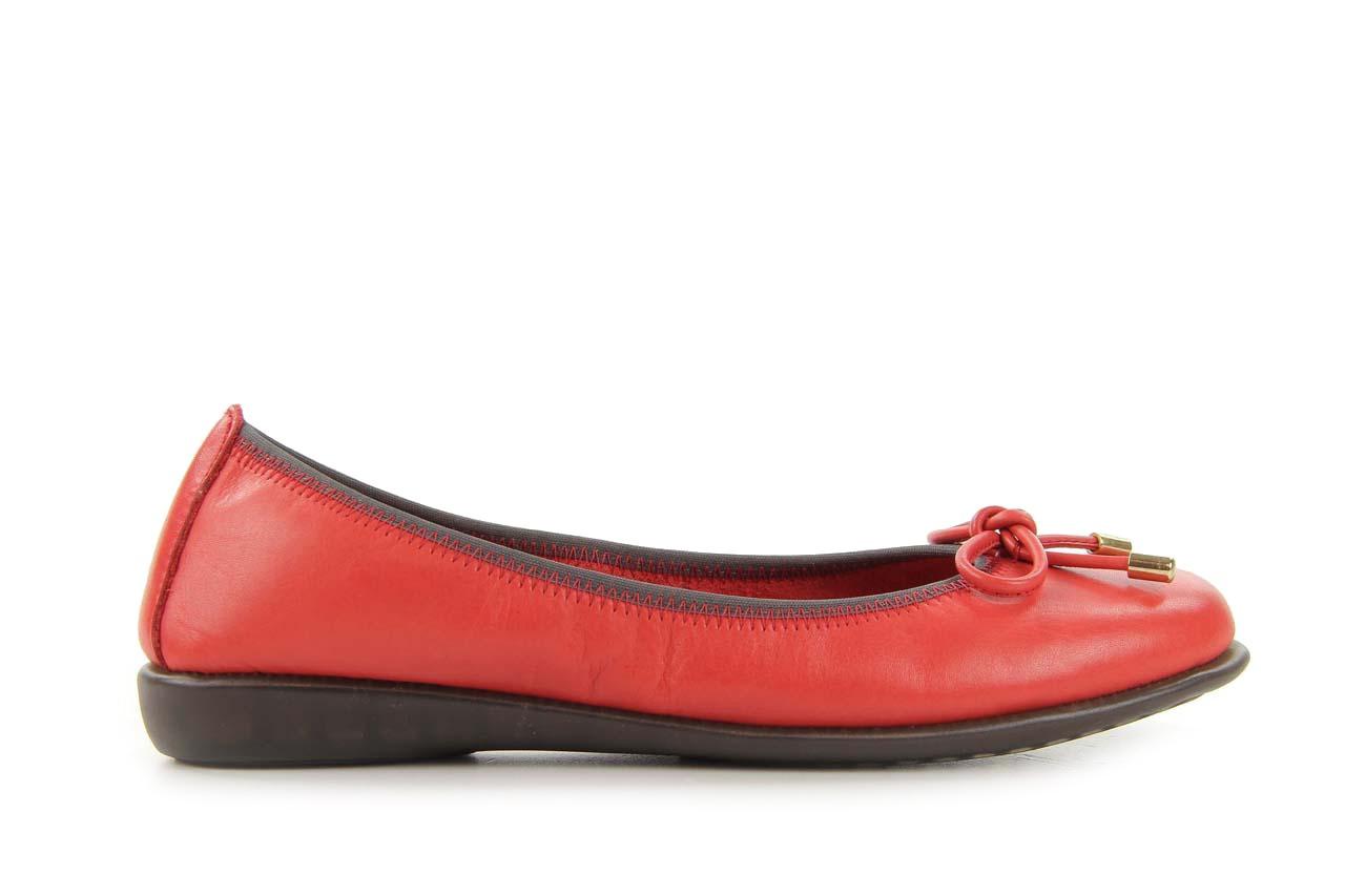 Baleriny the flexx miss italia marlboro, czerwony, skóra naturalna - the flexx - nasze marki 5