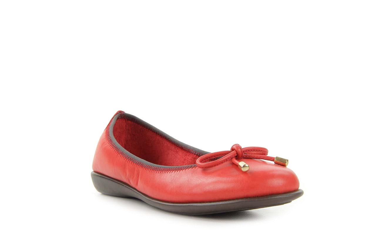 Baleriny the flexx miss italia marlboro, czerwony, skóra naturalna - the flexx - nasze marki 6