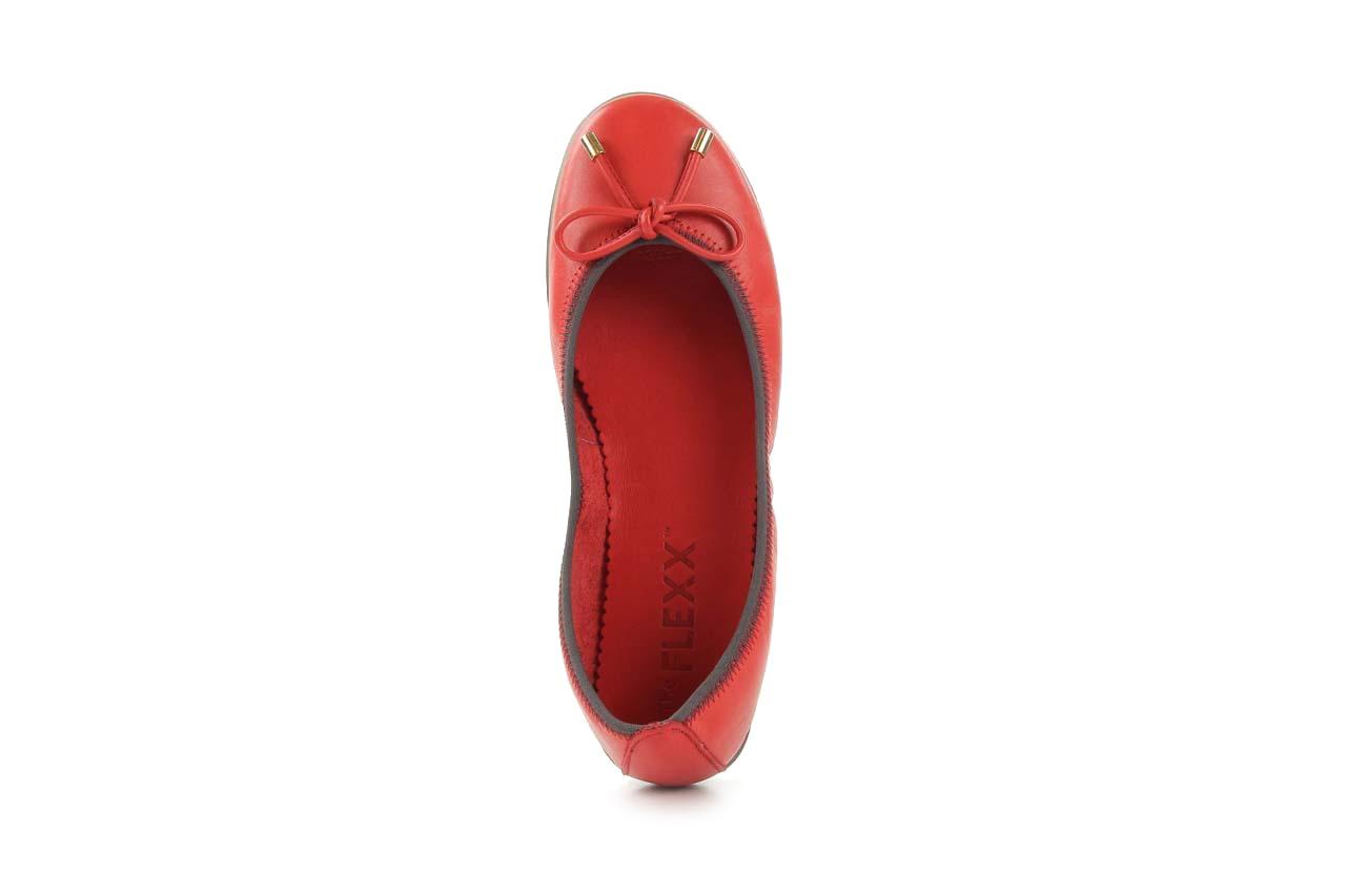 Baleriny the flexx miss italia marlboro, czerwony, skóra naturalna - the flexx - nasze marki 8