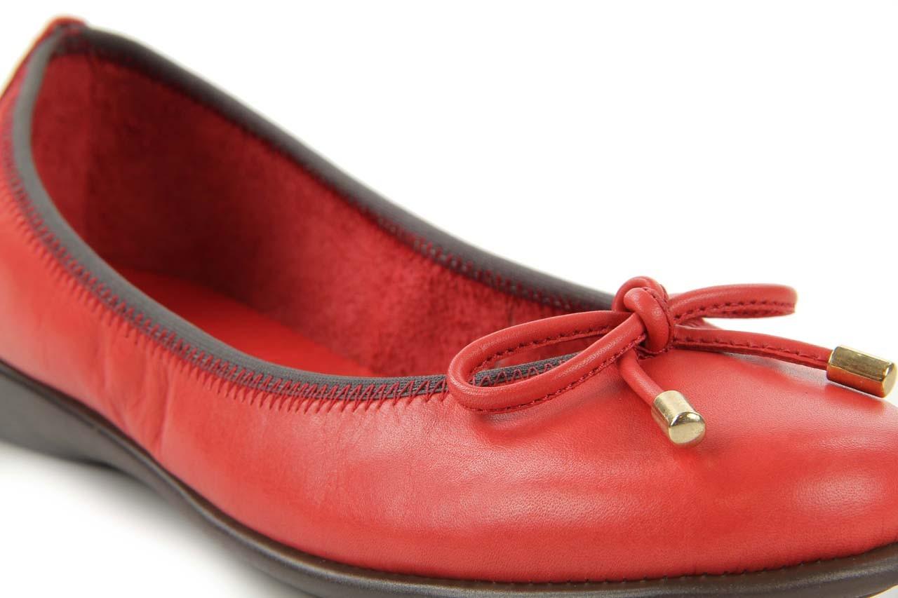 Baleriny the flexx miss italia marlboro, czerwony, skóra naturalna - the flexx - nasze marki 9