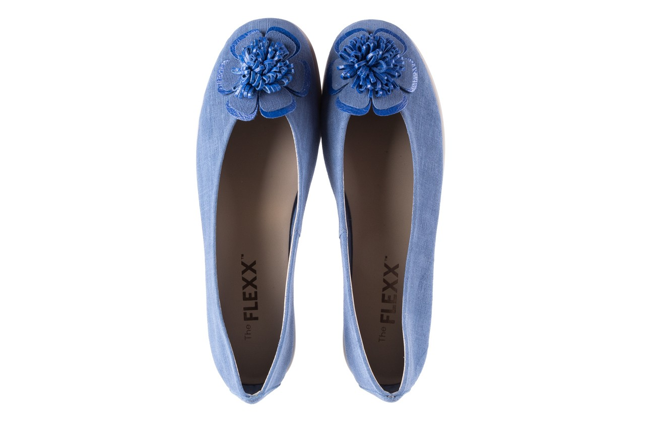 Baleriny the flexx misspoke denim, niebieski, skóra naturalna - the flexx - nasze marki 10
