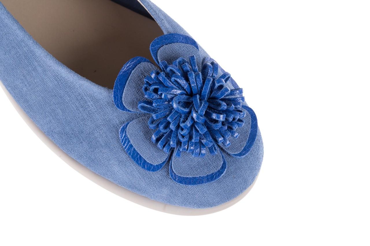 Baleriny the flexx misspoke denim, niebieski, skóra naturalna - the flexx - nasze marki 11