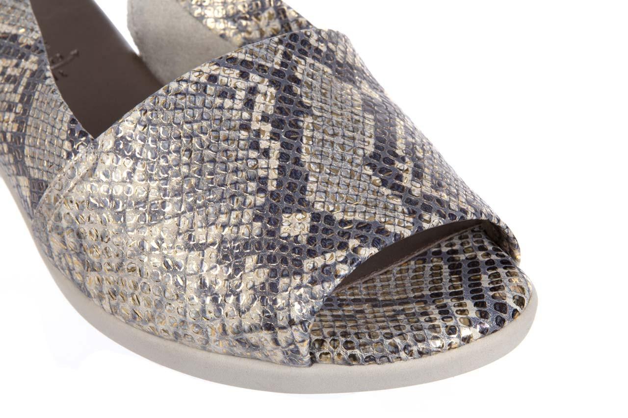 Sandały the flexx ultraclean platino, wąż, skóra naturalna  - the flexx - nasze marki 11