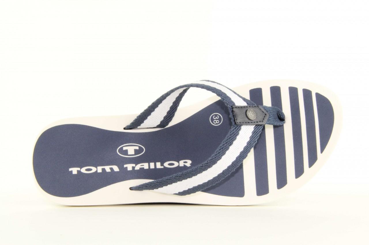 Klapki tom tailor 5491701 navy, granat/ biały, guma 9