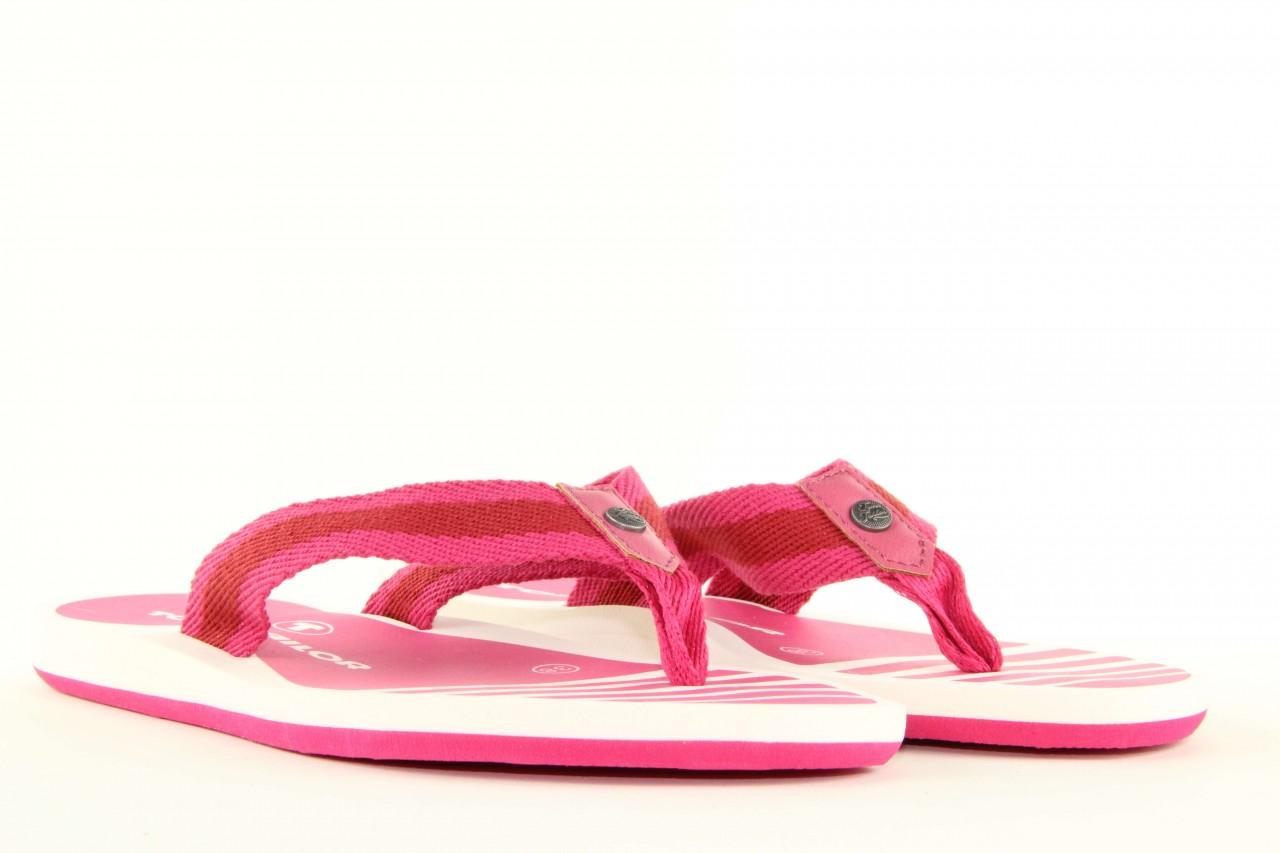 Klapki tom tailor 5491701 pink, róż, guma 10