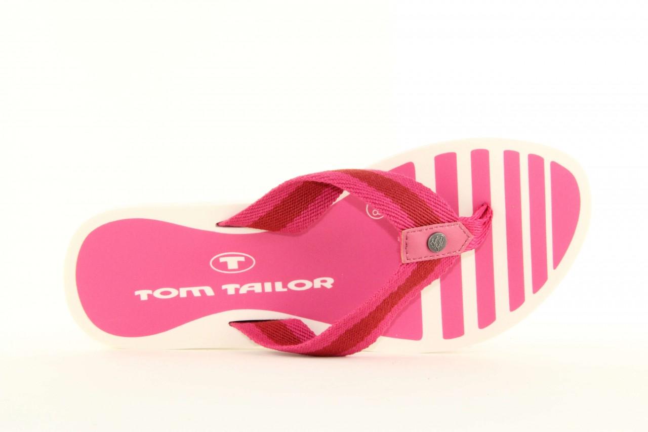 Klapki tom tailor 5491701 pink, róż, guma 9