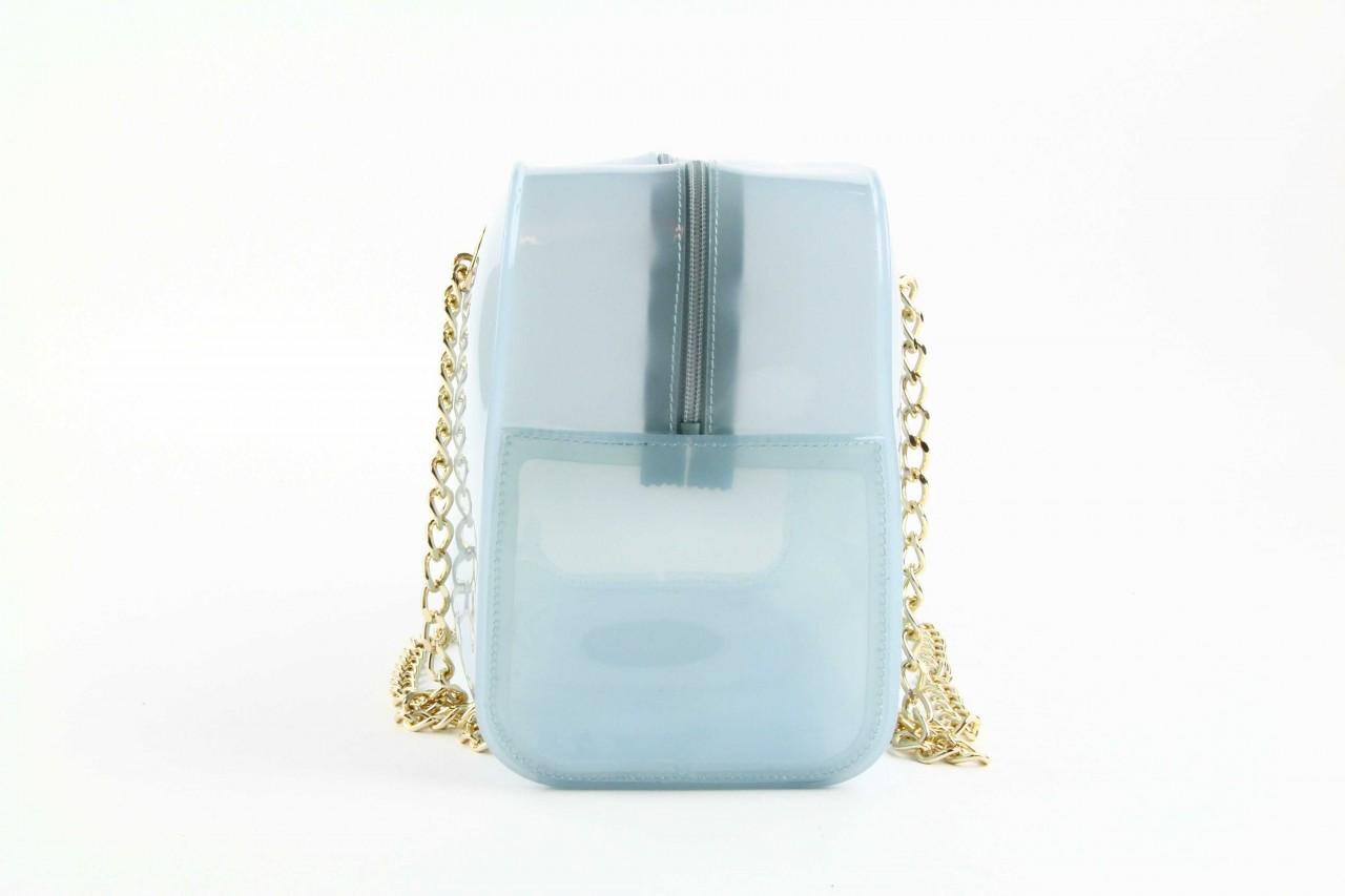 Torebka menghi 602 bauletto celeste gel, niebieski, tworzywo sztuczne 7