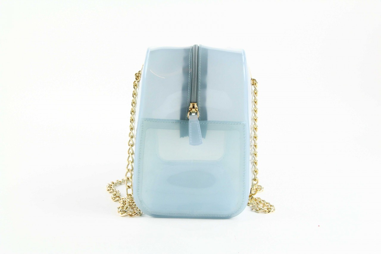 Torebka menghi 602 bauletto celeste gel, niebieski, tworzywo sztuczne 8
