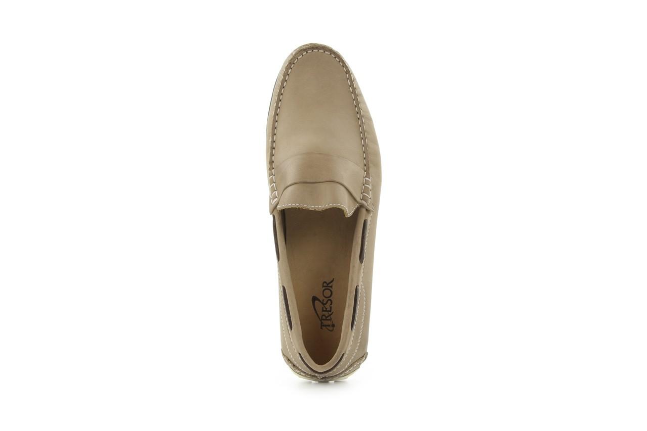 Mokasyny tresor-113 6810 cenere, brąz, skóra naturalna - mokasyny i espadryle - buty męskie - mężczyzna 8