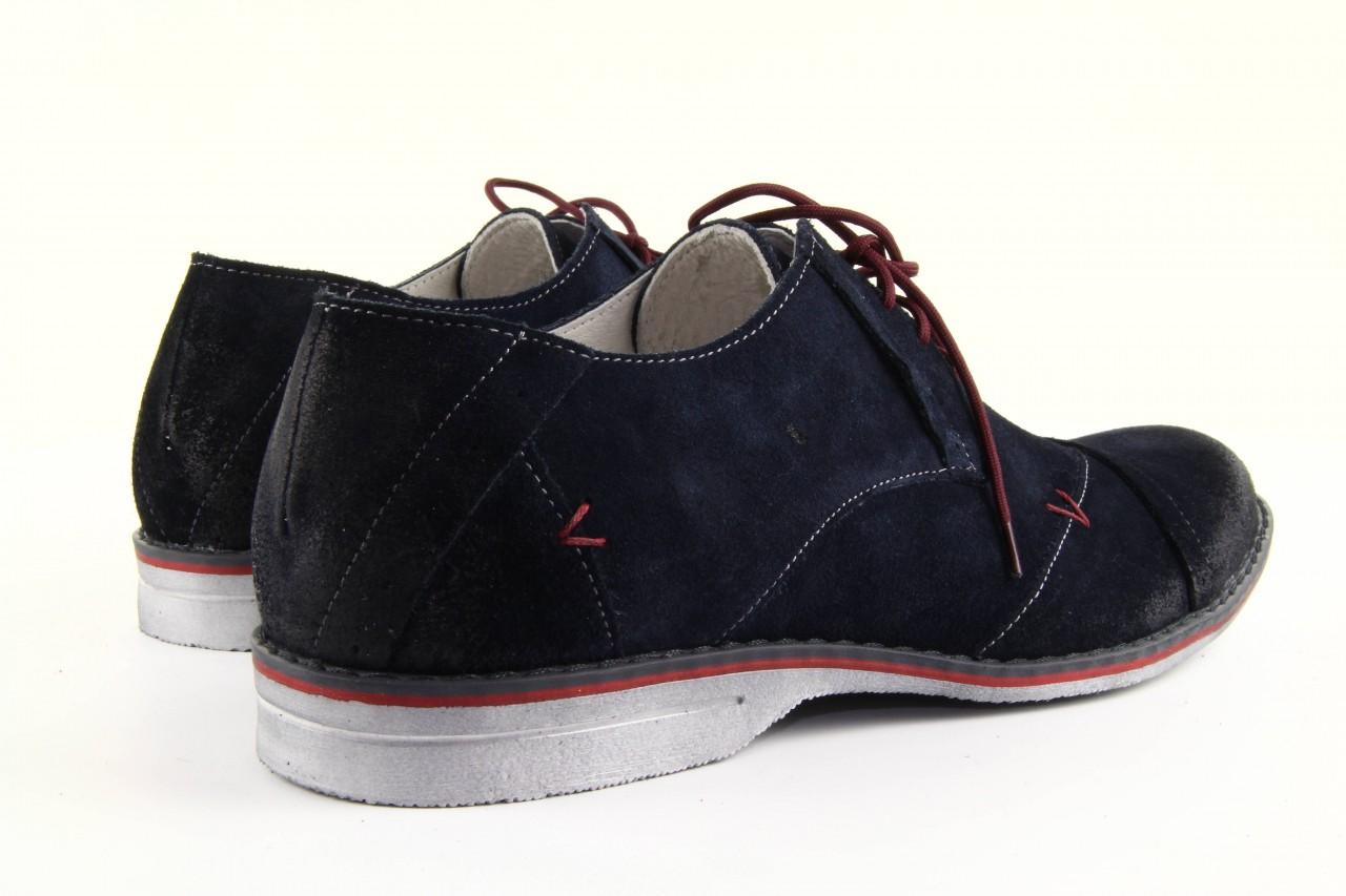 Półbuty tresor-rk 667 welur blue, granat, skóra naturalna  - obuwie wizytowe - dla niego - sale 12