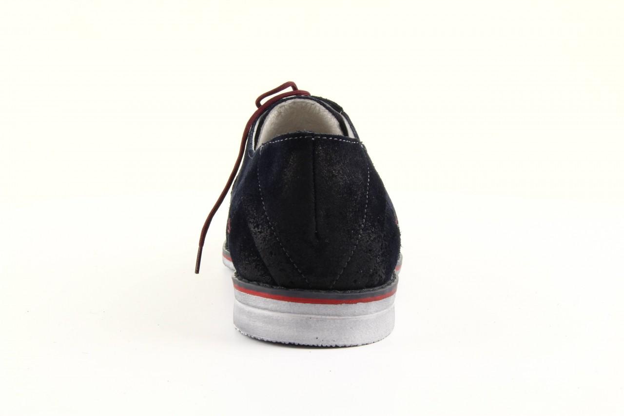 Półbuty tresor-rk 667 welur blue, granat, skóra naturalna  - obuwie wizytowe - dla niego - sale 8