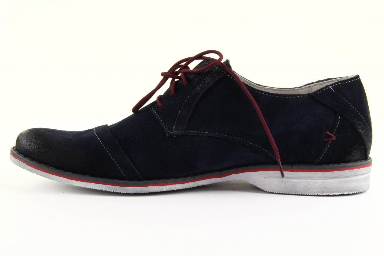 Półbuty tresor-rk 667 welur blue, granat, skóra naturalna  - obuwie wizytowe - dla niego - sale 9