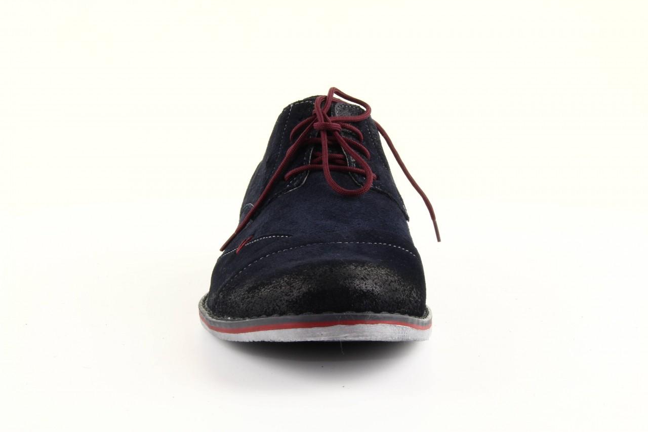 Półbuty tresor-rk 667 welur blue, granat, skóra naturalna  - obuwie wizytowe - dla niego - sale 10