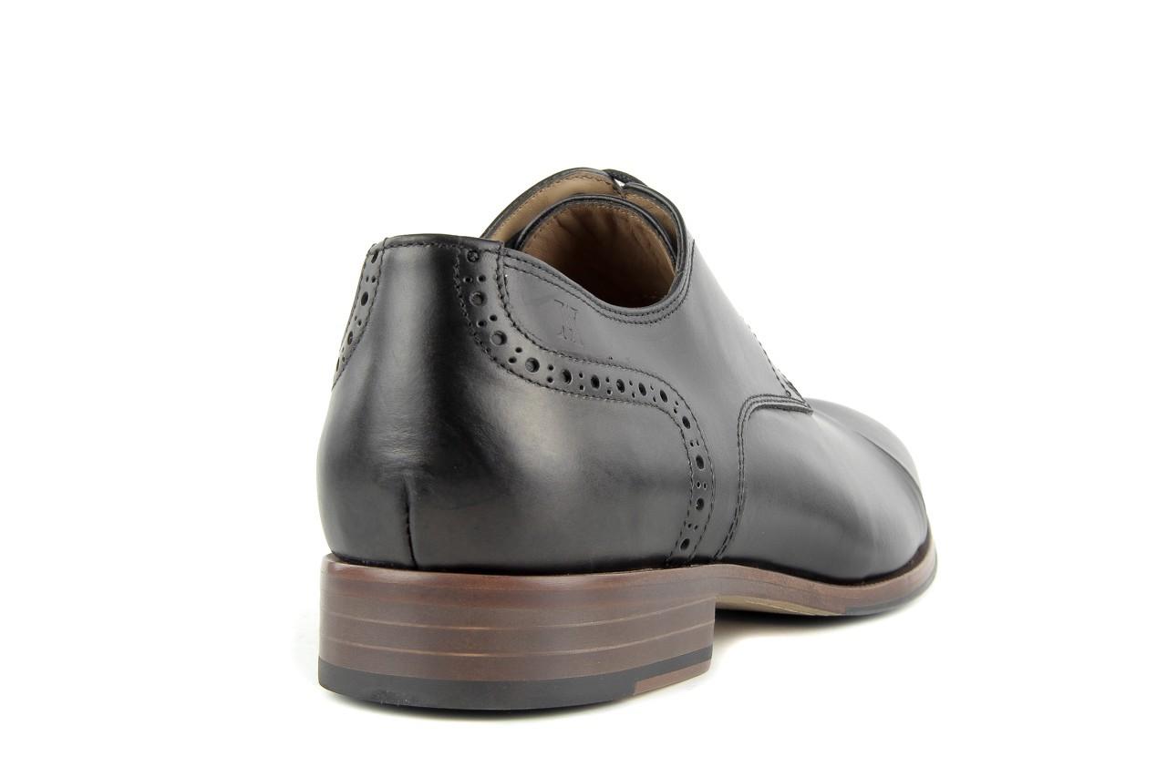 Półbuty valuni 8677 black/grey, czarny/szary, skóra naturalna 9