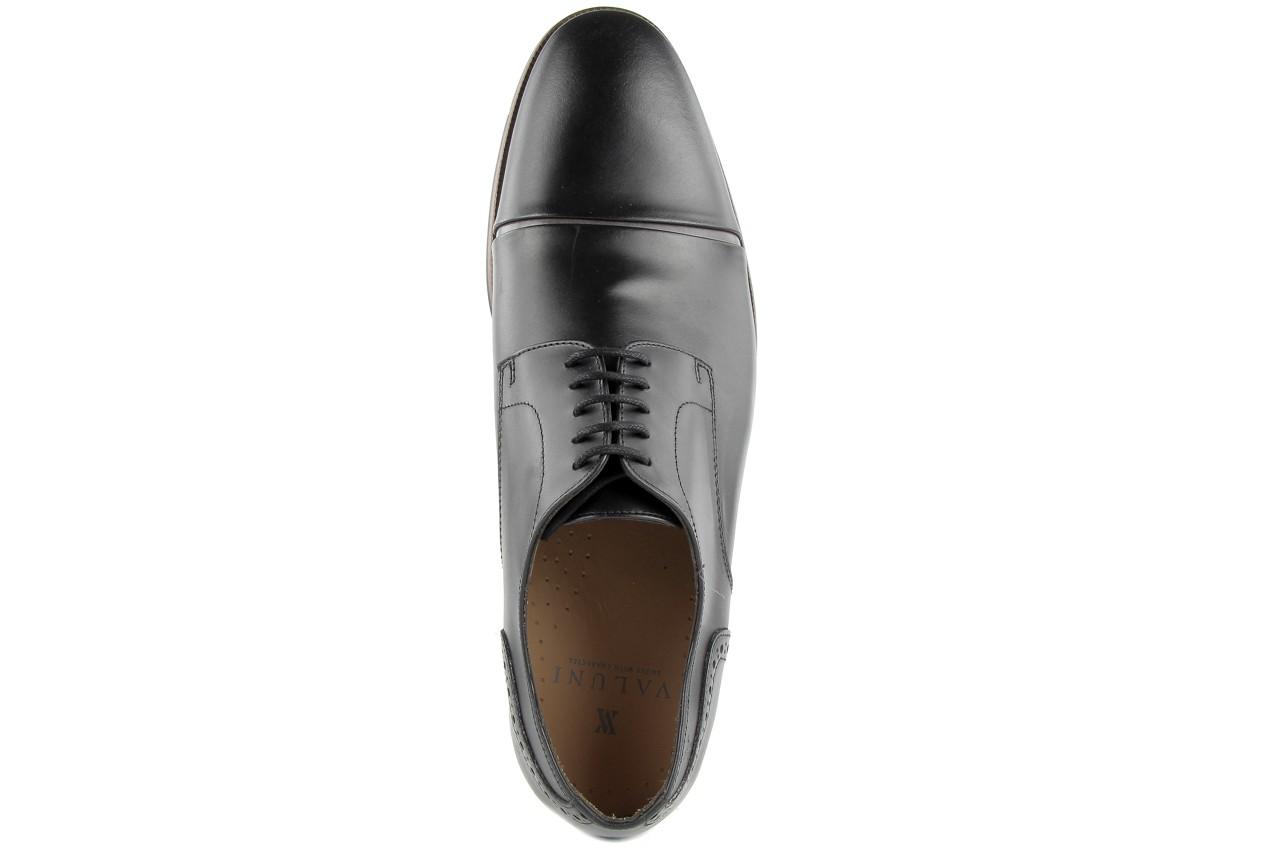 Półbuty valuni 8677 black/grey, czarny/szary, skóra naturalna 11