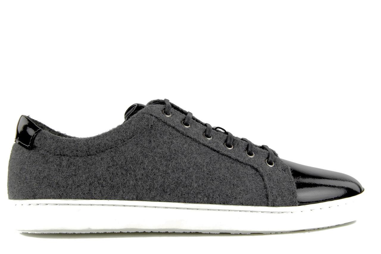 Pólbuty valuni 8964 grey black, szary/czarny, skóra naturalna 10