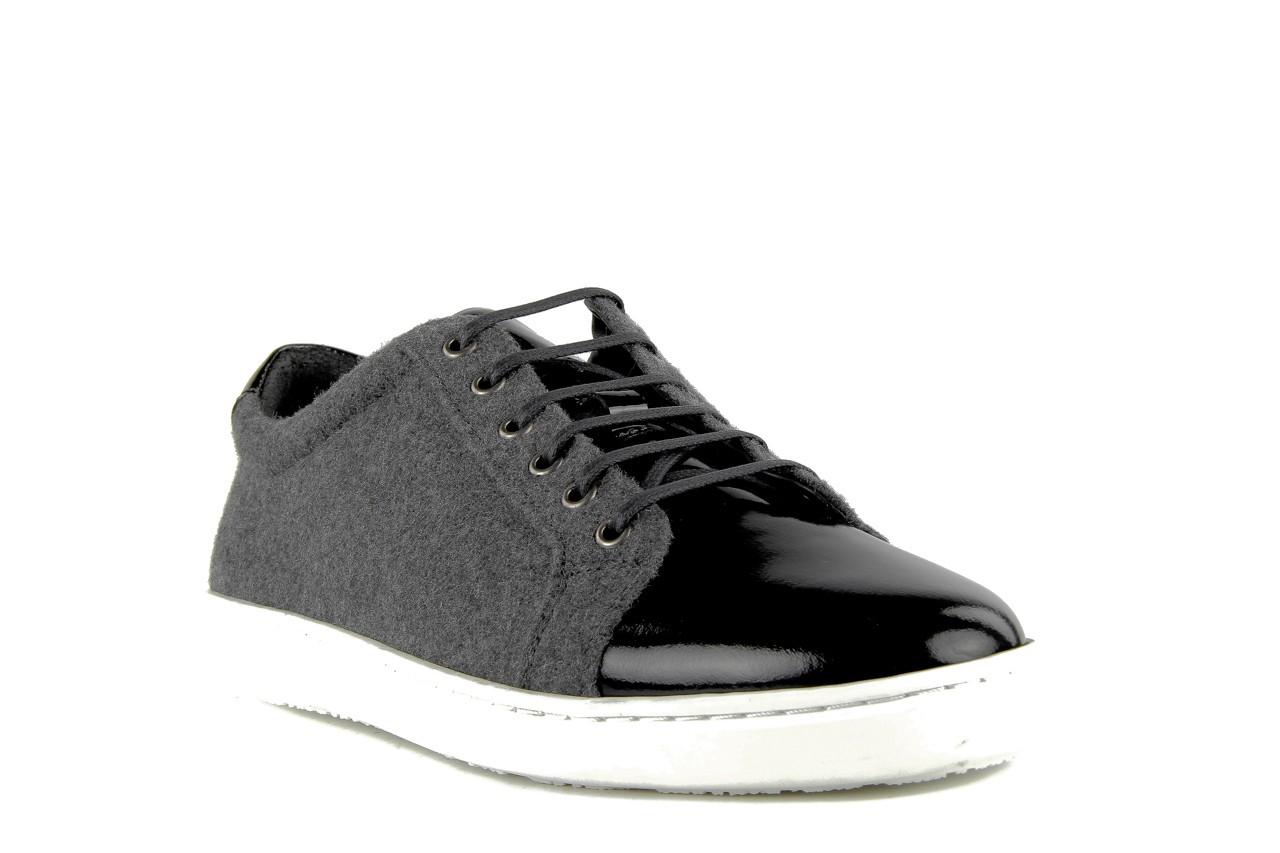 Pólbuty valuni 8964 grey black, szary/czarny, skóra naturalna 9