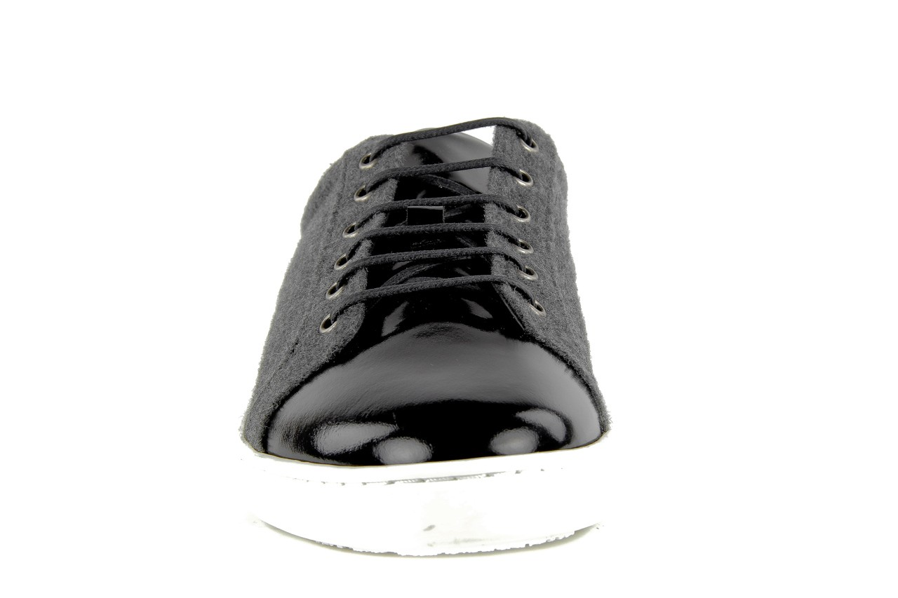 Pólbuty valuni 8964 grey black, szary/czarny, skóra naturalna 8