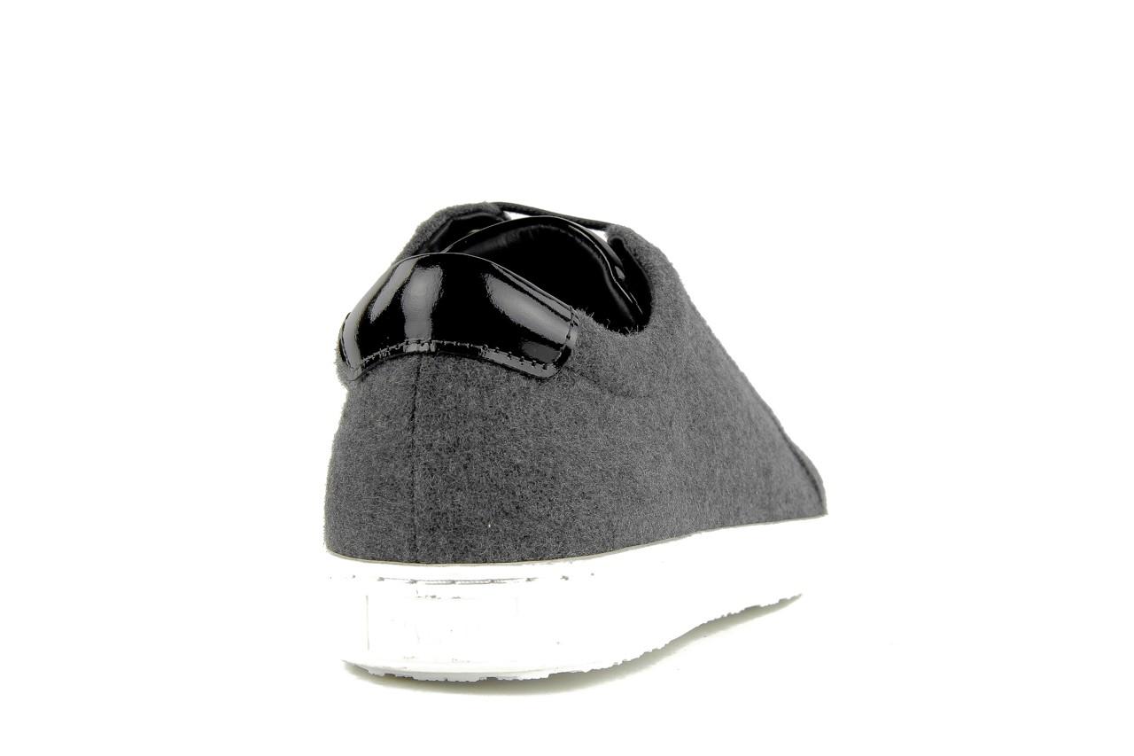 Pólbuty valuni 8964 grey black, szary/czarny, skóra naturalna 11