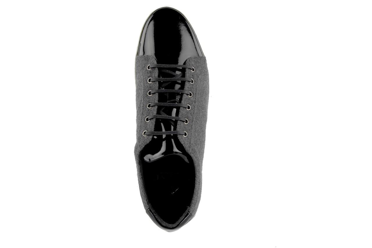 Pólbuty valuni 8964 grey black, szary/czarny, skóra naturalna 7