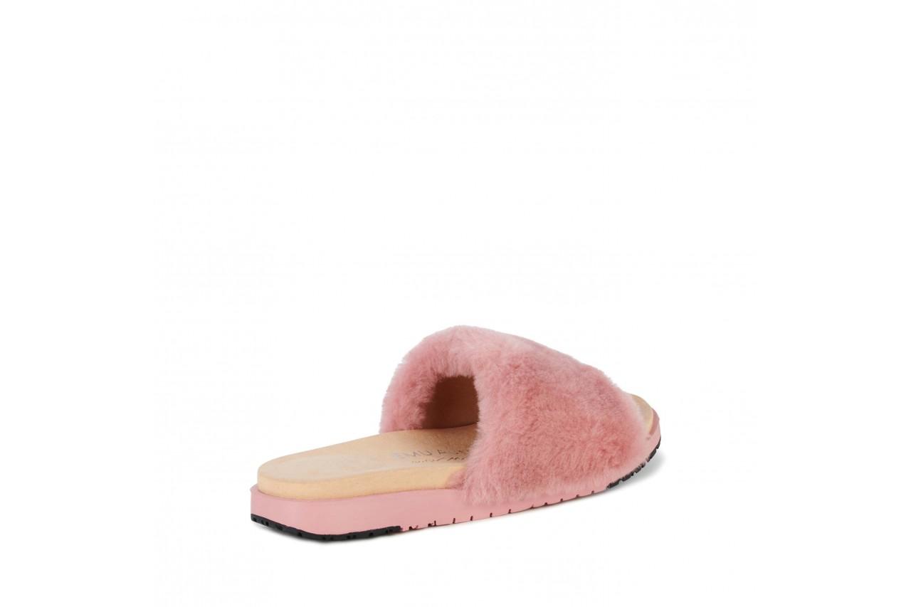 Klapki emu robe dusty pink, róż, futro naturalne  - emu - nasze marki 9