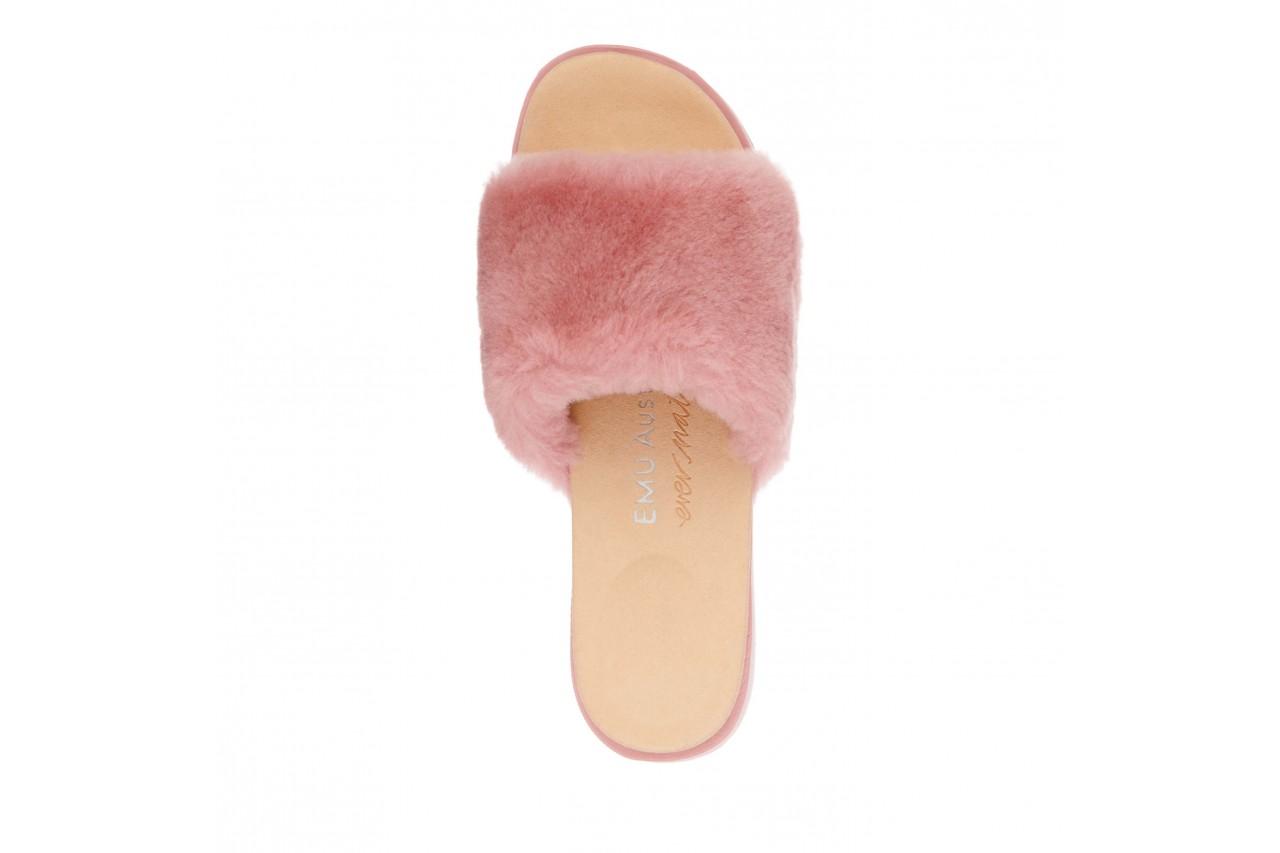 Klapki emu robe dusty pink, róż, futro naturalne  - emu - nasze marki 10