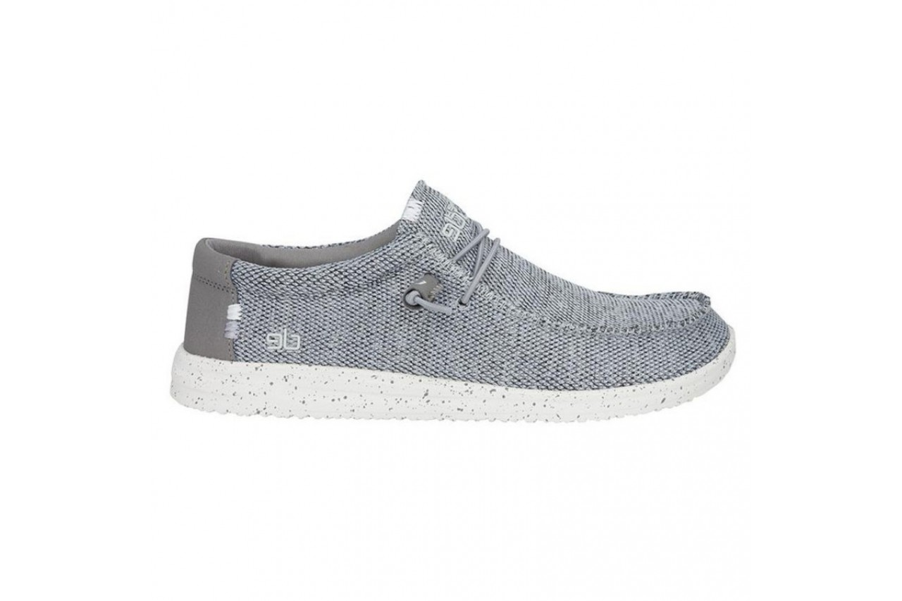 Półbuty heydude wally free light grey, szary, materiał  - sportowe - półbuty - buty męskie - mężczyzna 6