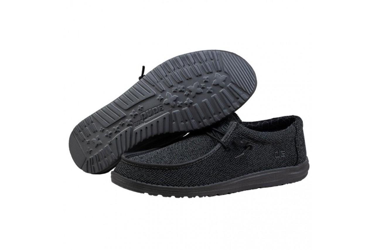 Półbuty heydude wally sox micro total black, czarny, materiał - codzienne / casualowe - półbuty - buty męskie - mężczyzna 9