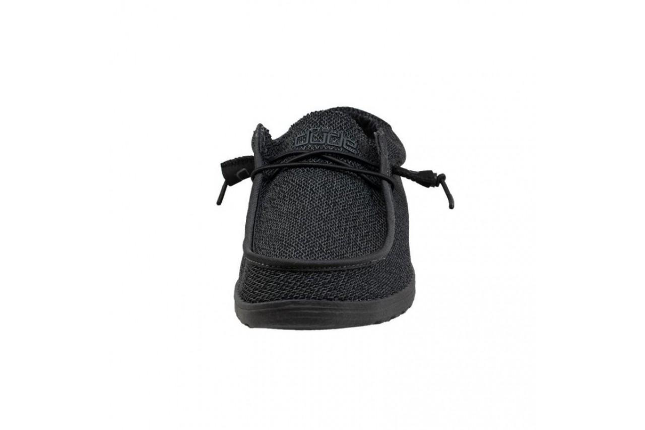 Półbuty heydude wally sox micro total black, czarny, materiał - codzienne / casualowe - półbuty - buty męskie - mężczyzna 10