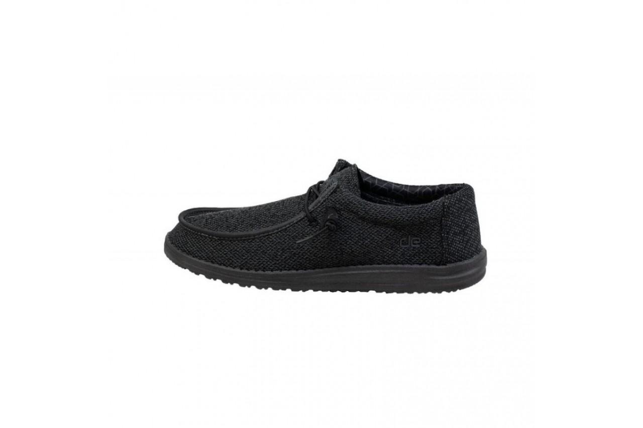 Półbuty heydude wally sox micro total black 20, czarny, materiał  - trendy - mężczyzna 9