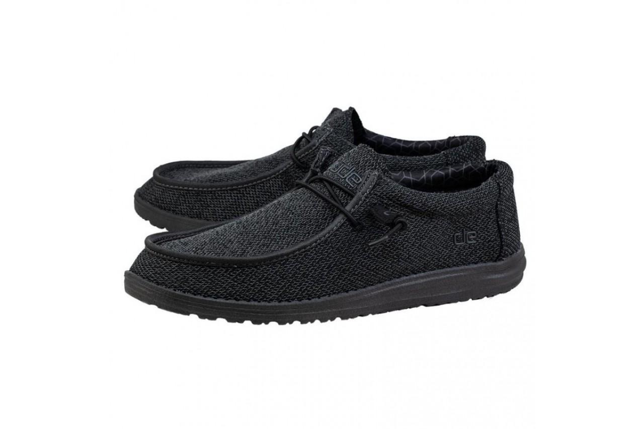 Półbuty heydude wally sox micro total black, czarny, materiał - codzienne / casualowe - półbuty - buty męskie - mężczyzna 7
