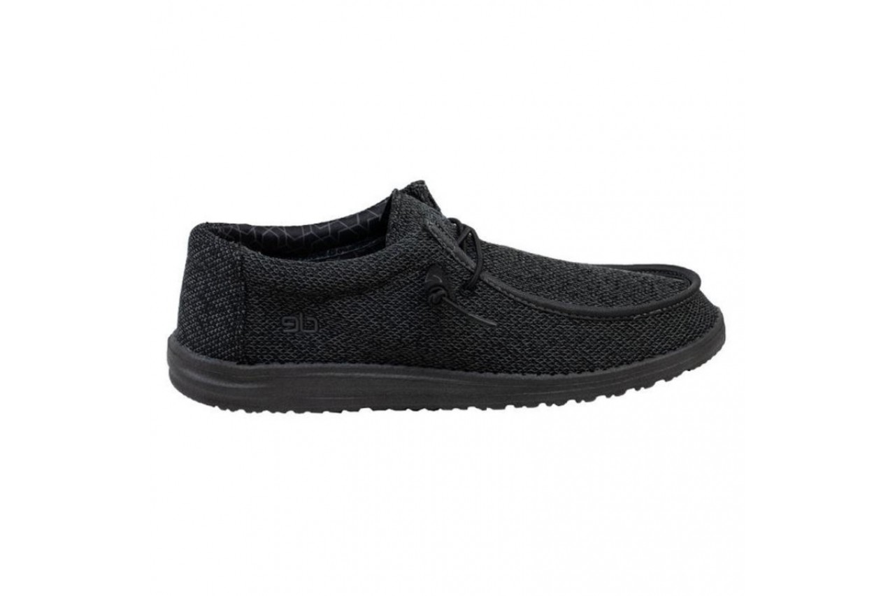 Półbuty heydude wally sox micro total black, czarny, materiał - codzienne / casualowe - półbuty - buty męskie - mężczyzna 6