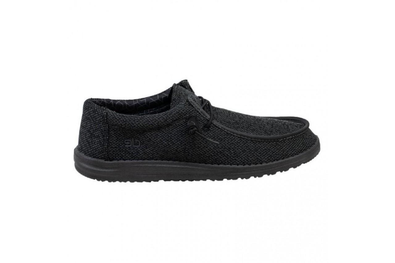 Półbuty heydude wally sox micro total black, czarny, materiał - heydude - nasze marki 6