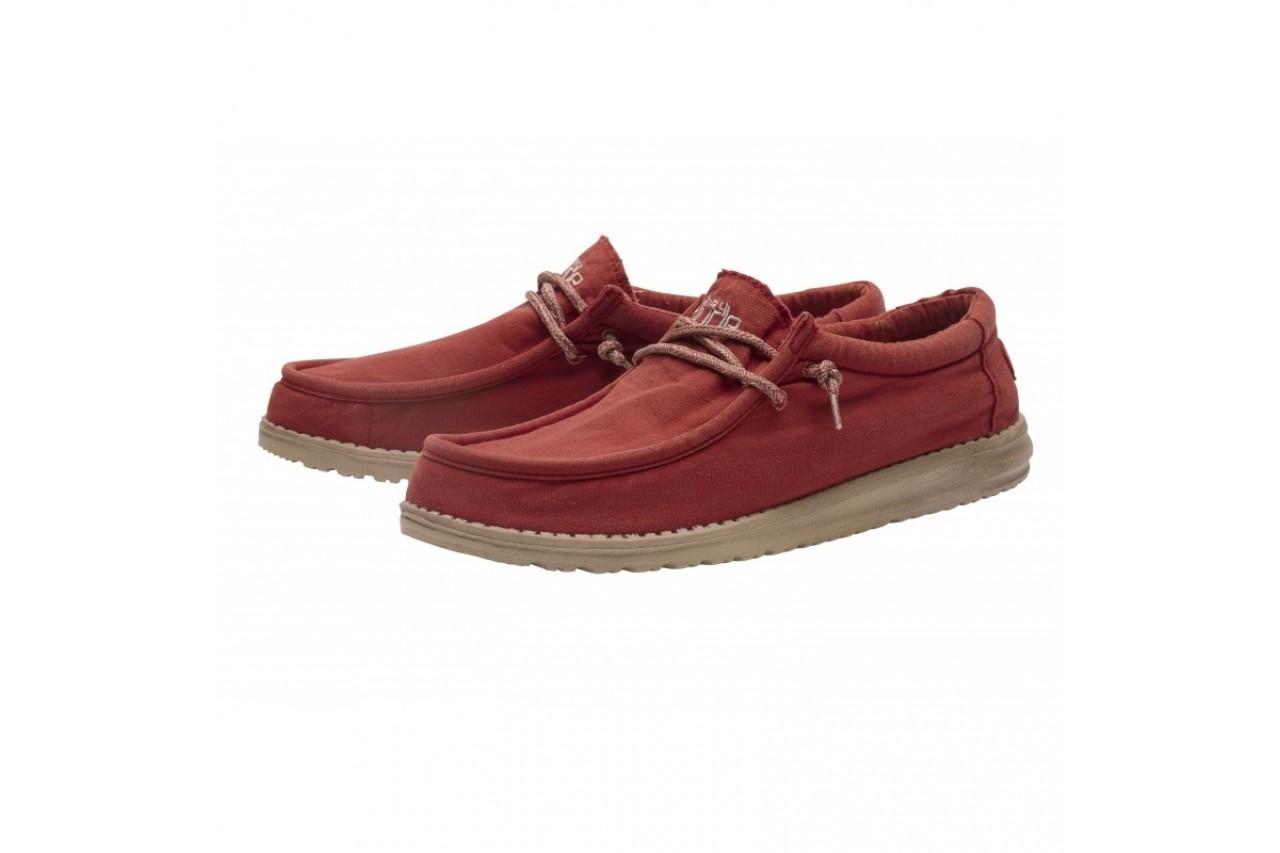 Półbuty heydude wally washed brick, czerwony, materiał - sportowe - półbuty - buty męskie - mężczyzna 7